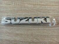 Suzuki Schriftzug Heckklappe Zeichen Emblem Chrom