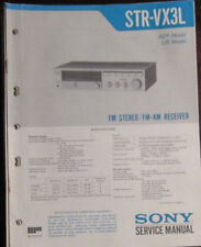 Sony STR-VX3L hifi receiver service repair workshop manual (original copy)