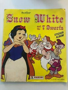 Disney's Snow White & the 7 Dwarfs Sticker Album, incomplete