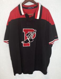 Polo Ralph Lauren P Wing Mens 4XB Big & Tall Black Mesh Polo Shirt RL67 Stadium