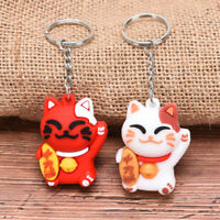 PVC Soft  Lucky Cat Cute Pendant Key ring Key chain Car Bag Key Souvenir Gi Hu