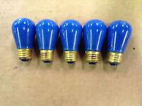 General Electric 130V Medium Base 11-Watt Blue Light Bulb - Pack of 5