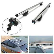 135cm UNIVERSAL CAR ROOF BARS RACK ALUMINIUM LOCKING CROSS RAILS With KEYs