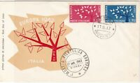 Italy 1962 Europa Tree FDC Stresa Cancel Two Tree Stamps Cover ref 22412