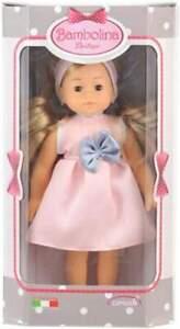 Bambolina Puppe Boutique mit langen Haaren und Kleid, ca. 20 cm