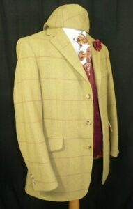 Bladen Supasax Mens Tweed Sports Country Jacket Blazer Matching Cap Hat 40 Reg
