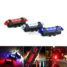 3x Safety 5 LED Bicycle Bike Cycling Tail Rear Warning Flash Light Lamp Red Blue