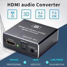 HDMI to 4K HDMI SPDIF 3.5mm Audio Video Converter Extractor Splitter New Trendy