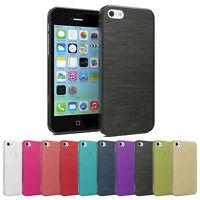 Handyhülle für Apple iPhone 5C Back Cover Silikon Case Schutzhülle Brushed Soft
