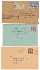 MALAYSIA 1950-60s COLLECTION OF 6 COMMERCIAL COVERS INCLUDING TWO REDGISTERED