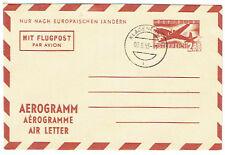 Österreich Aerogramm 2,80 S  nach EU-Länder 1954 gest.