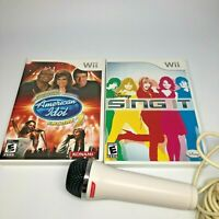Wii Karaoke Rev American Idol Encore 2, Disney Sing It w/ Konami Mic Bundle