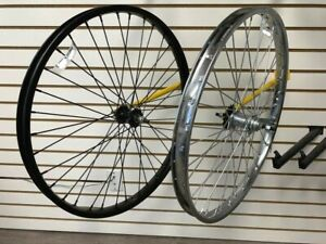 """Bicycle Wheel 26""""  x 2.125 x 12G STEEL front OR rear BLACK or CHROME"""