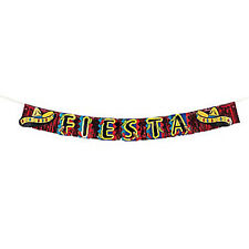 MEXICAN FIESTA PARTY Metallic Fringed Sombrero Sign Banner Free Postage