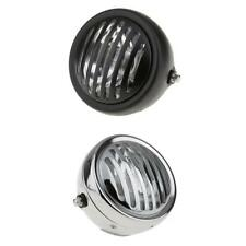 """2pcs 6"""" Retro Motorcycle LED Headlight Grill Side Mount Cover Cafe Racer"""