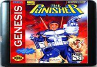 The Punisher (1994) 16 Bit Game Card For Sega Genesis / Mega Drive System