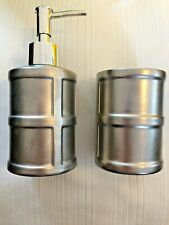 Pewter Grey Silver Soap Dispenser Chic Modern Farmhouse- Great Gift! GLOBAL SHIP