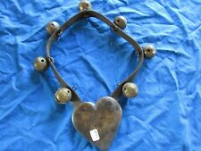 EARLY AMERICAN ANIMAL COLLAR, AMISH BELLS & HEART HORSE COLLAR,   #CHI-00443