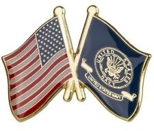 "Us Navy Usa Dual Flag Lapel Pin 1"" x 3/4"" Navyusa"