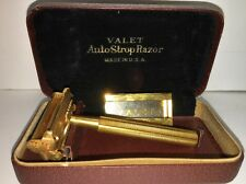 VINTAGE Gillett VALET AUTO-STROP RAZOR Metal DISPLAY CASE Razor & Holder 'RARE'