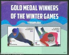 ST. VINCENT GRENADINES  2014 GOLD MEDAL WINNERS SOCHI OLYMPIC GAMES S/S  MINT NH