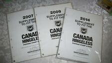 2007, 2009 & 2014 SUPLEMENTS TO FIT CWS CANADA HINGELESS STAMP ALBUMS NEW SEALED