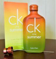 CK ONE SUMMER 2007 CALVIN KLEIN 3.4 OZ / 100ML EDT SPY COLOGNE MEN DISCONTINUED