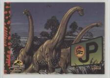 1993 Topps Jurassic Park Deluxe Gold Brachiosaurus On Parade #9 1md