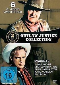 # DVD OUTLAW JUSTICE COLLECTION - JOHN WAYNE + MARLON BRANDO + BURT LANCASTER *