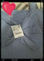 Zara Blue & White Striped Top size M 10 12