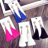 Fashion Bohemian Earrings Women Vintage Long Tassel Fringe Boho Dangle Earring