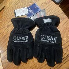 Lion Commander ACE Structural Firefighting Gauntlet Leather Gloves - Black Sz XL