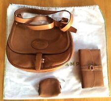 Longchamp Tan Leather Bag Handbag Wallet and Purse
