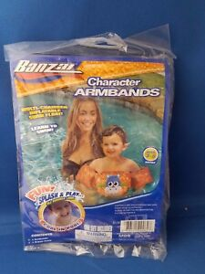 Kids HIPPO Animal Multi-Chamber Inflatable Learn to Swim Armband Float Ages 3-5