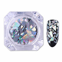 Nails Sequins Holographic Silver Glitter Paillette Laser Flakes Born Pretty 1.5G