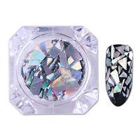 Nail Glitzer Sequins Holographisch Laser Silber Paillette Flocken Born Pretty