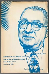[Walter Hagen]  MGWA National Awards Dinner Program  Waldorf Astoria  Jan., 1962