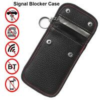 Car Key Signal Blocker Case Faraday Cage Fob Pouch Keyless RFID Blocking Bags