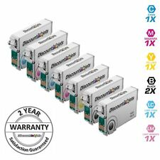 7Pk Ink Cartridges for Epson T078 Stylus Photo R260 R280 R380 RX580 RX595 RX680