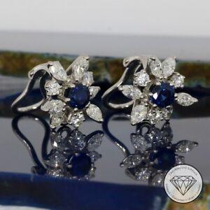 Wert 4.850,- Atemberaubende 1,50 Carat Diamant Ohrklemmen 750 / 18 Kt Gold xxyy