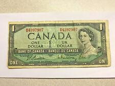 1954 Canada One Dollar Note Fine #8497