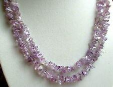Superbe sautoir Collier Multi-Brin perles cristaux améthyste bijou vintage 442