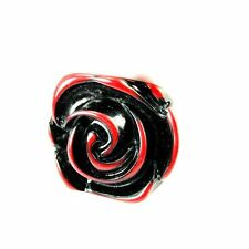 Goth GEAR trama grossa Gotico Red Rose Flower ring