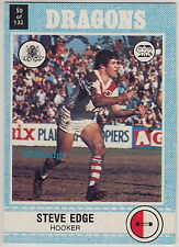 1977 SCANLENS RUGBY LEAGUE TRADING CARD #50: STEVE EDGE - ST GEORGE DRAGONS