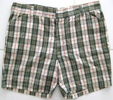 1970's VINTAGE SHORTS CHECKERED COTTON BLEND MENS SIZE 40 MADE IN JAPAN