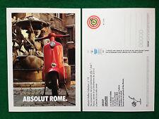 Pubblicità Advertising Cartolina vodka Italy ABSOLUT ROME 10/2358 Vespa Piaggio