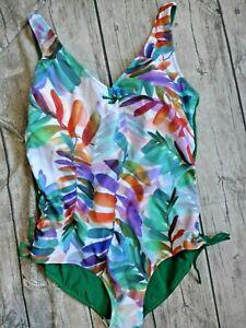 Maritim Swimwear Swimsuit Ladies Size 50 C Green Patterned (998) plus Size New