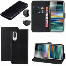 Megnatic Leather Wallet Book Flip Case Pouch For Sony Experia Mobile L3 2019
