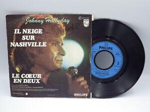 vinyle 45 tours Johnny Hallyday il neige sur Nashville 45t vintage audio