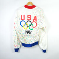 USA 1988 Olympics TY BREAKERS vintage Track Jacket Made Italy L / XL size